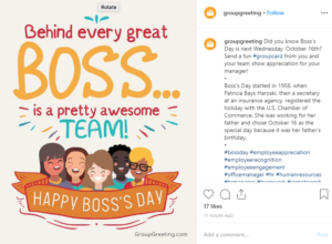 boss' day recognition