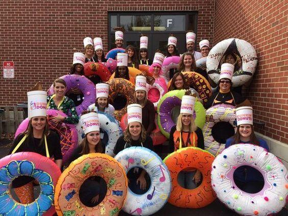 work Halloween costumes donuts