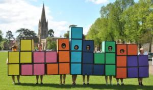 tetris Halloween costume for work