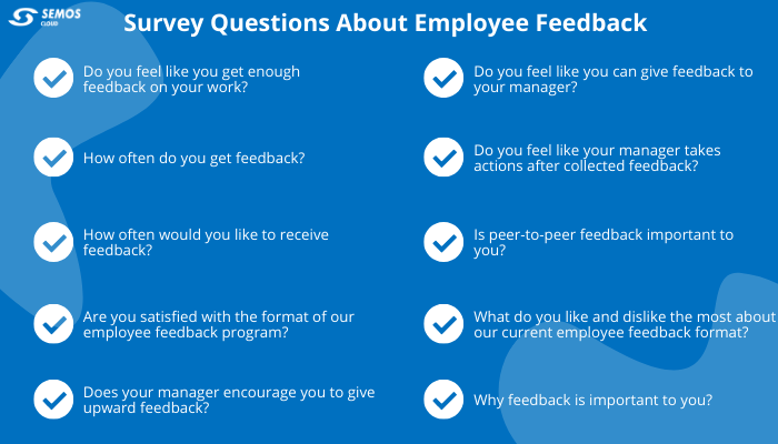 survey questions about employee feedback