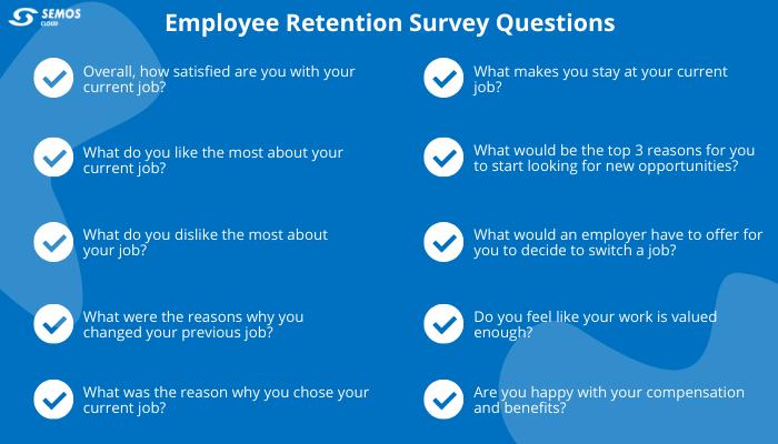 employee retention surveys questions