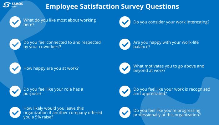 employee satisfaction survey questions