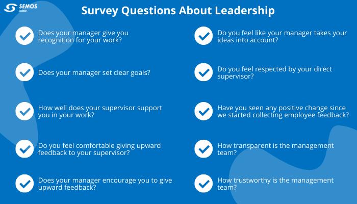 employee surveys about leadership