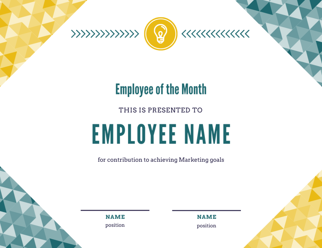 employee of the month template for achieving goals