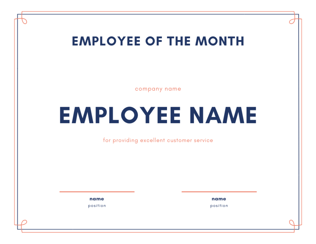 employee of the month for customer service