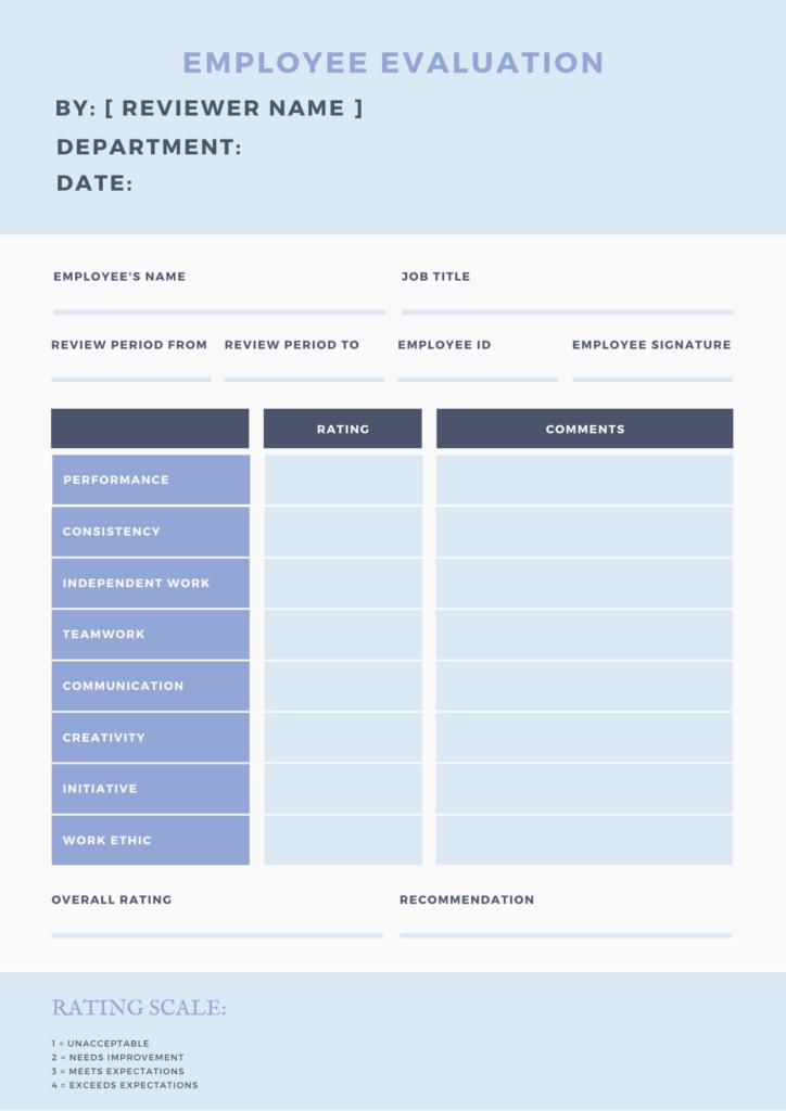 employee evaluation form 1
