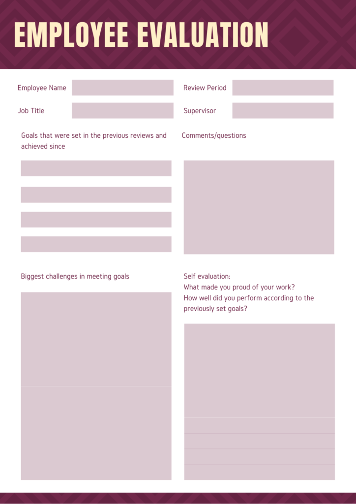 employee evaluation form 3