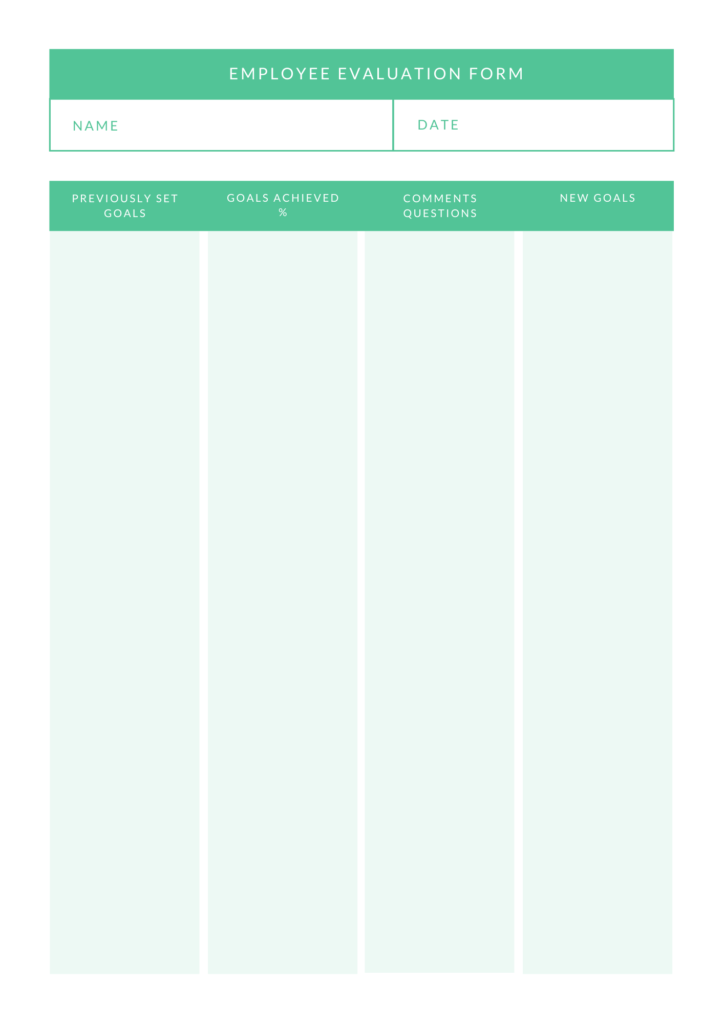 employee evaluation form 5