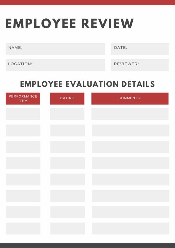 employee evaluation form 2