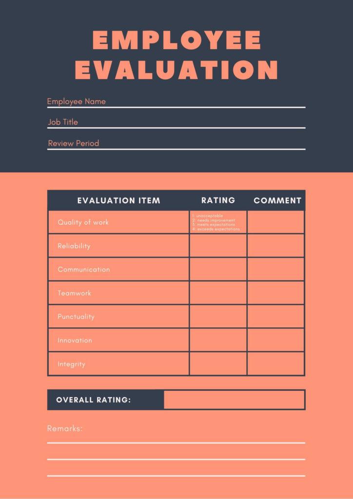employee evaluation form 4
