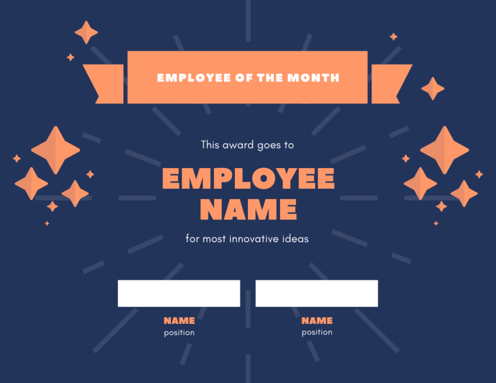 employee of the month template for innovation