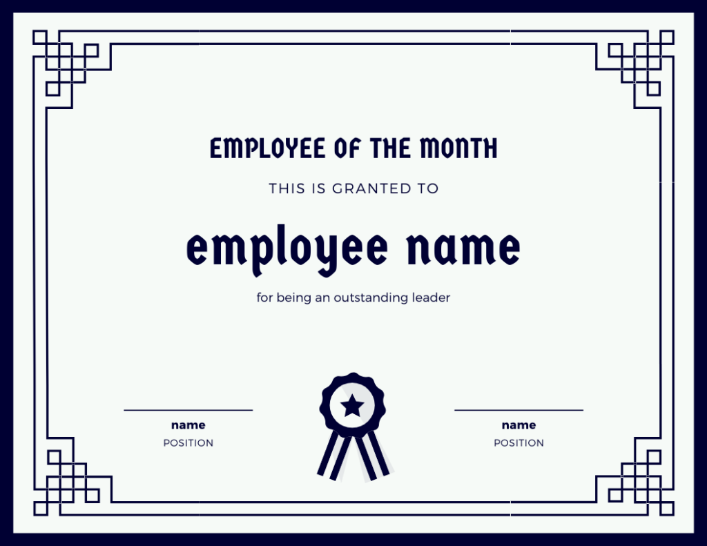 employee of the month for leadership