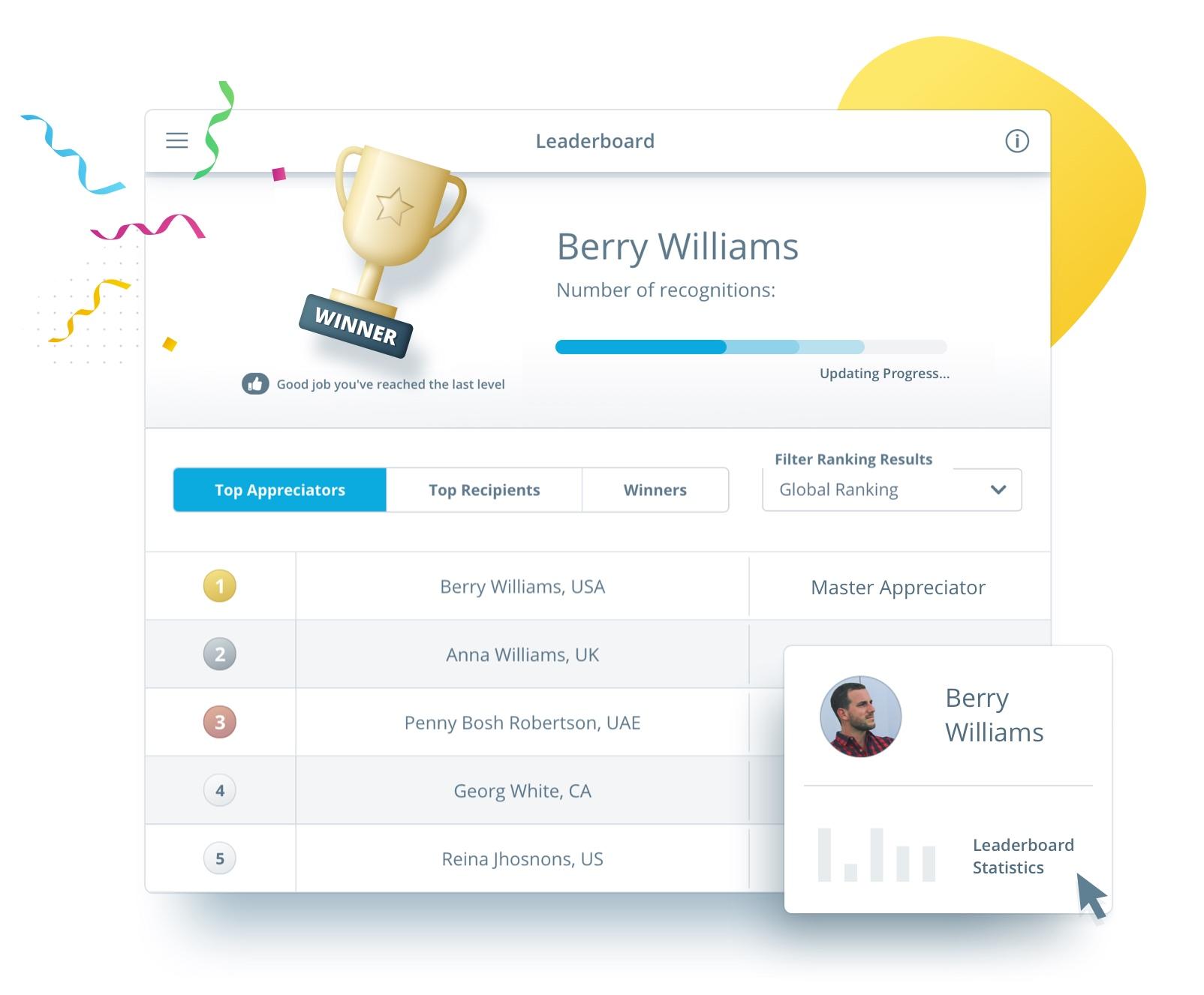 Social Employee recognition programs