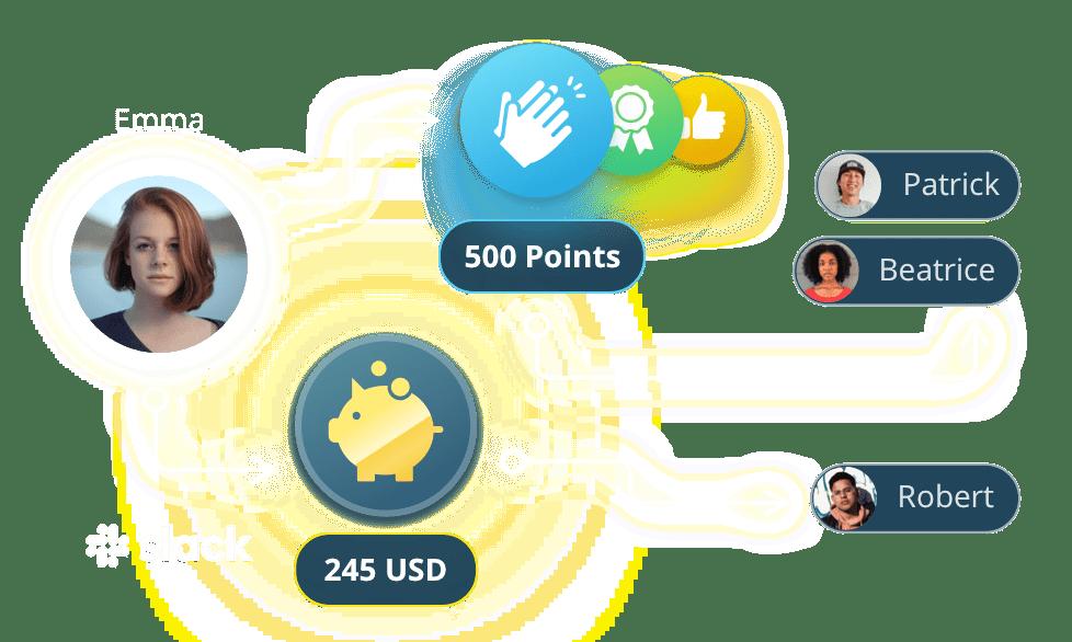 JobPts rewards distribution